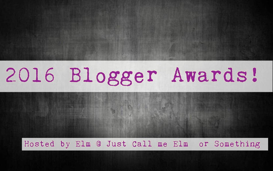 2016 Blogger Award Nomination!!