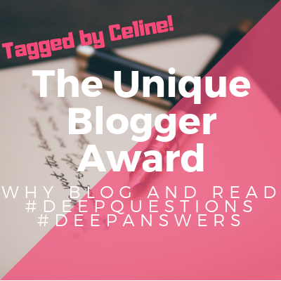 Tag: Unique Blogger Award // Why I Read, Blog, Plus my Favorite Book